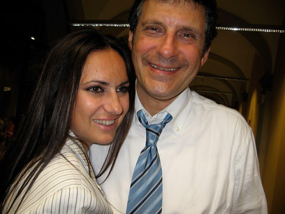 Cinzia Fiorato con Fabrizio Frizzi