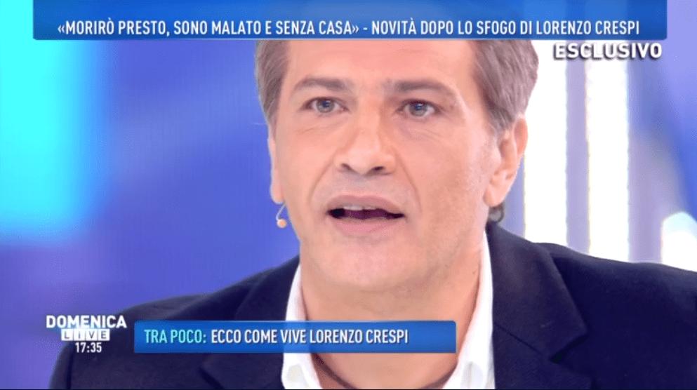 Lorenzo Crespi a Domenica Live: 'Mi hanno fatto sparire dalla tv, ma farei l'opinionista al GF'