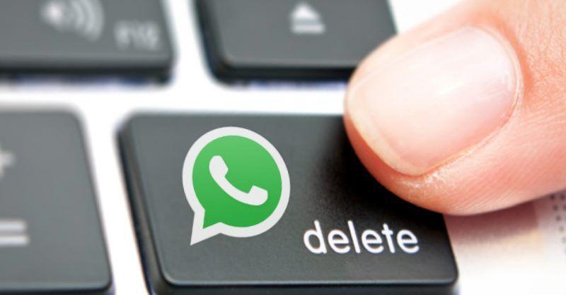 cancellare messaggi da whatsapp