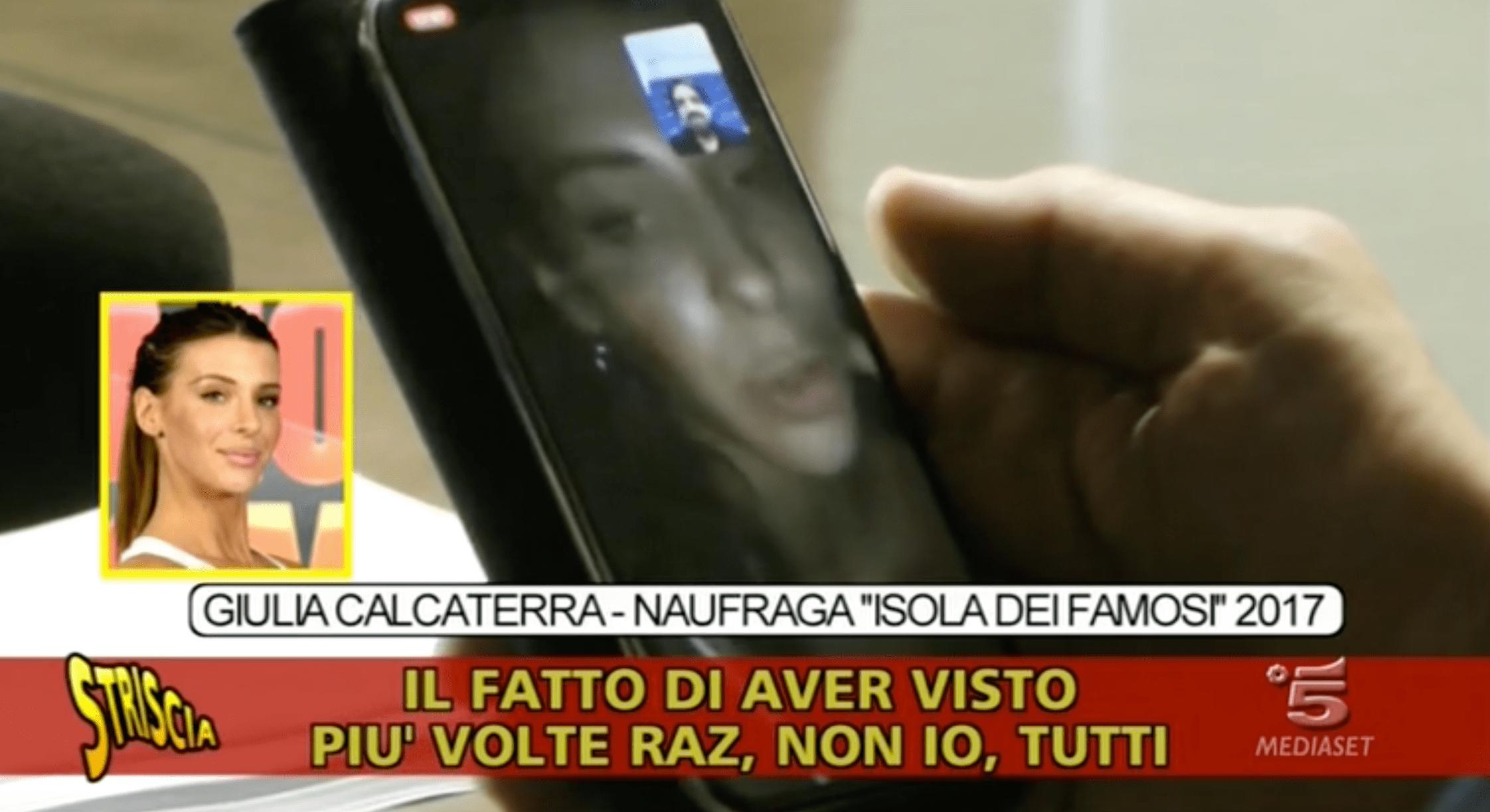 giulia calcaterra dichiarazioni shock isola dei famosi striscia la notizia