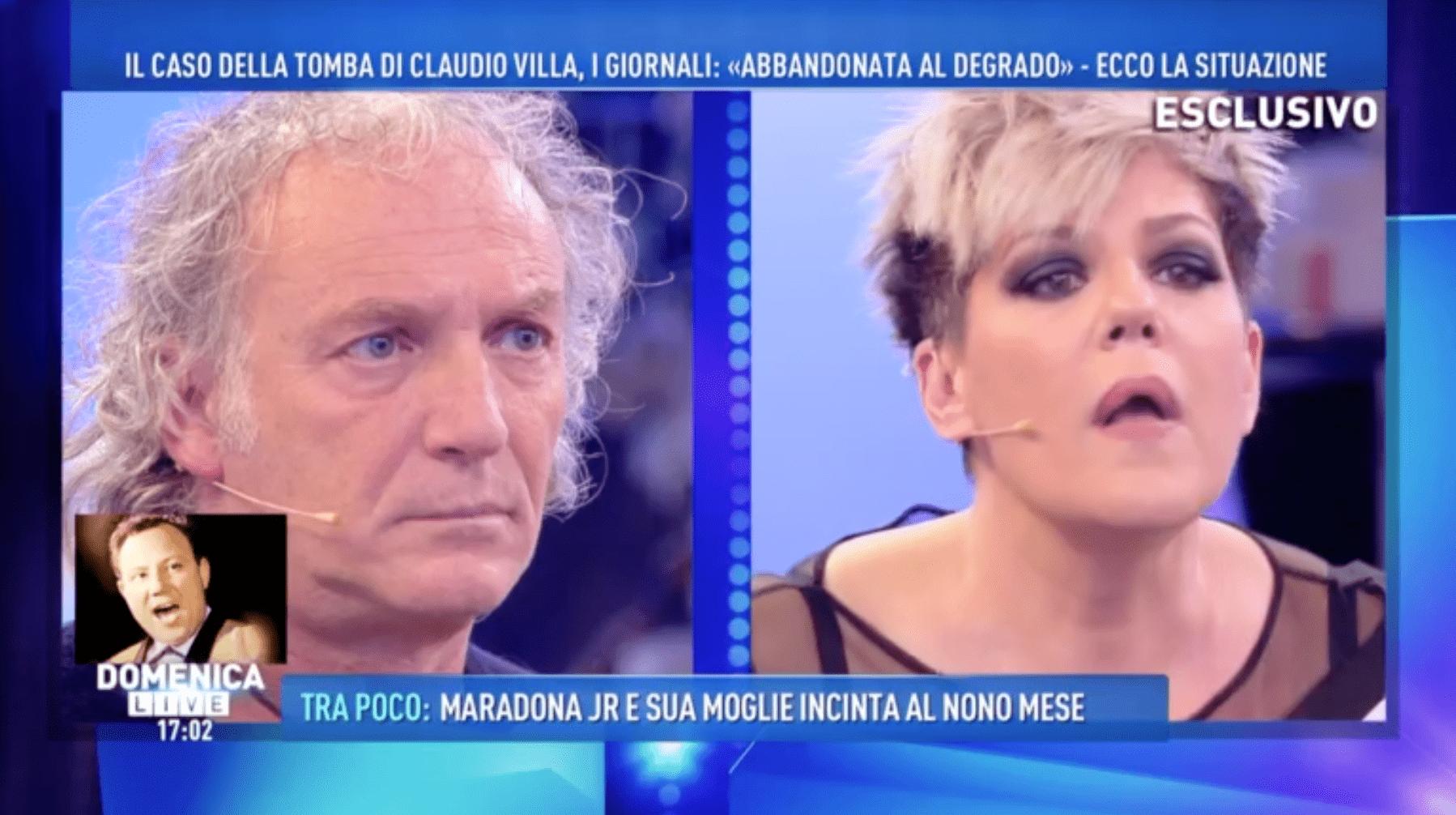 manuela villa accusa la vedova del padre domenica live