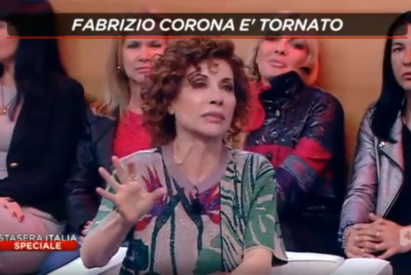 Fabrizio Corona Alda D'Eusanio rissa