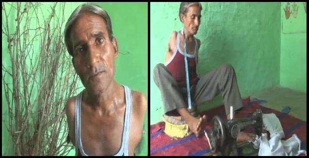 Madan Lal: nato senza braccia diventa il migliore sarto del villaggio