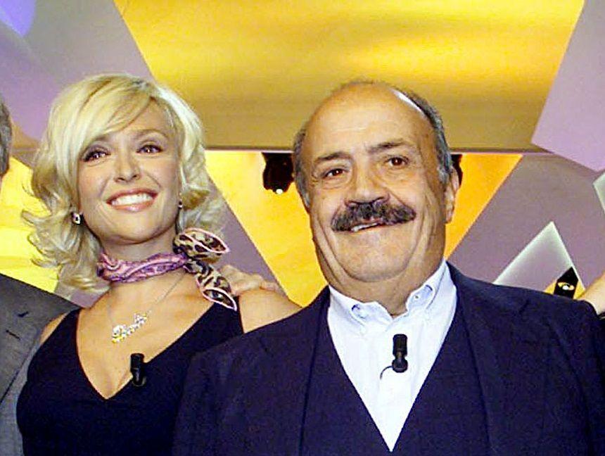 Maurizio Costanzo e Paola Barale