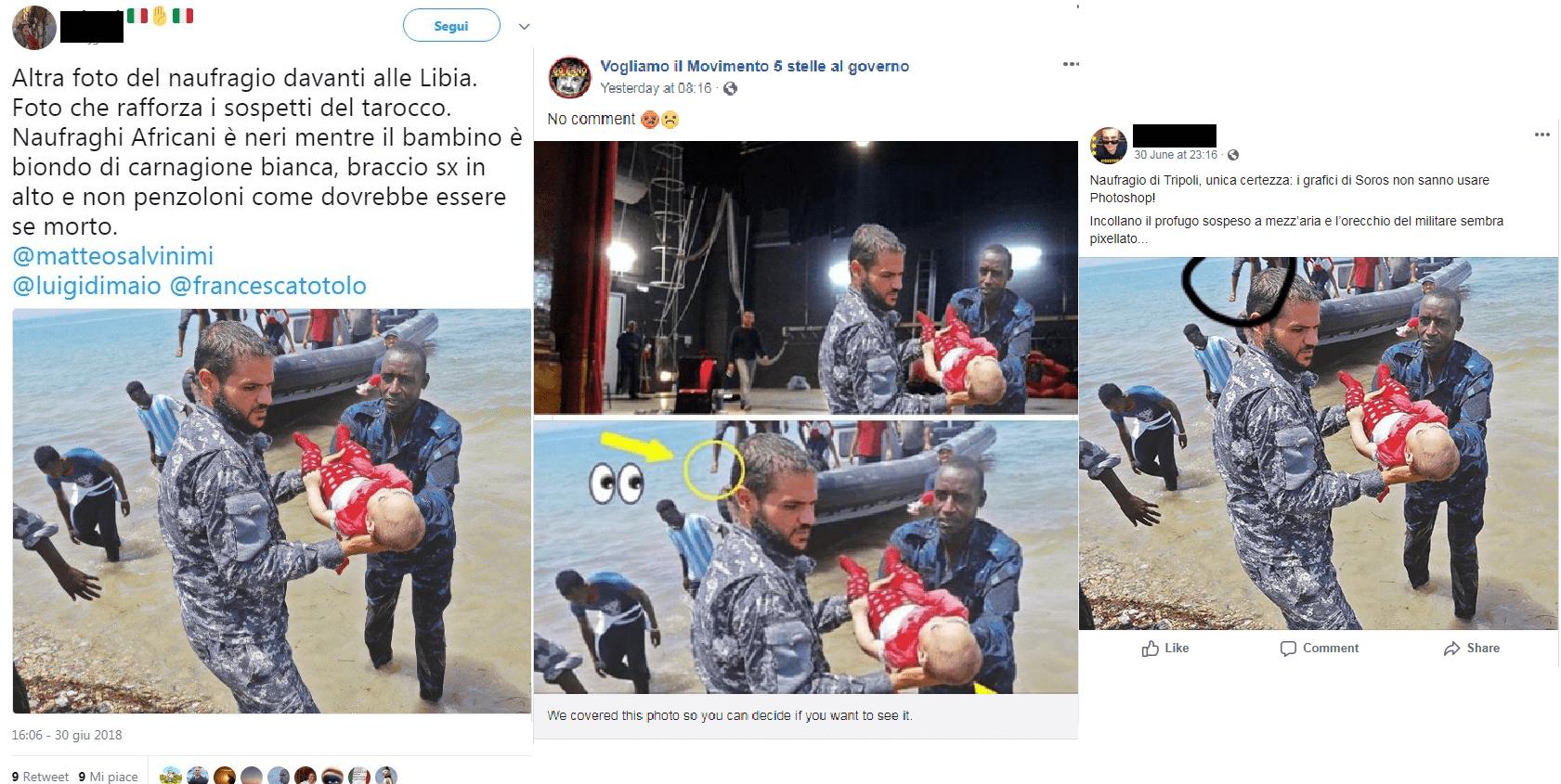 Migranti bambini morti in Libia non sono bambolotti
