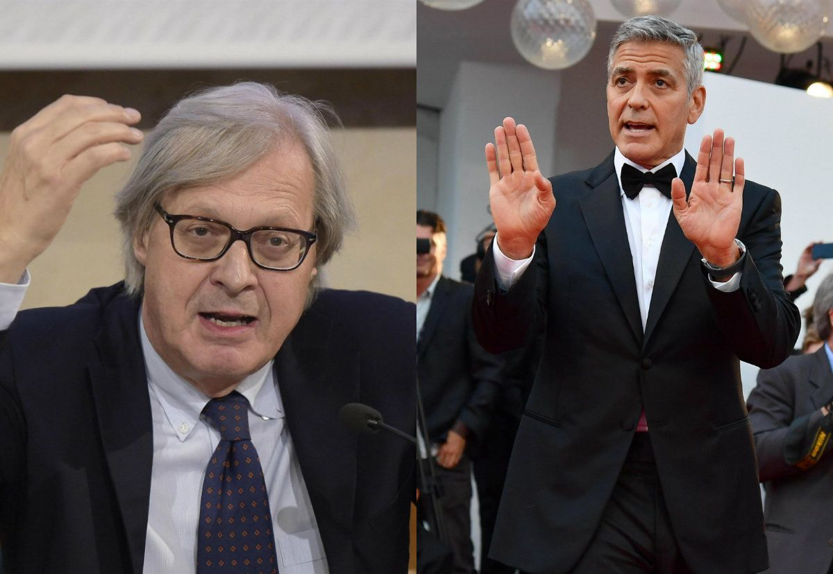 Vittorio Sgarbi contro George Clooney: 'Torni a ripulire Sutri'