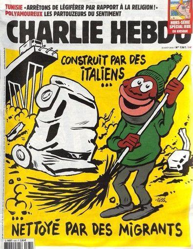 Charlie Hebdo fa ironia sul crollo del ponte Morandi