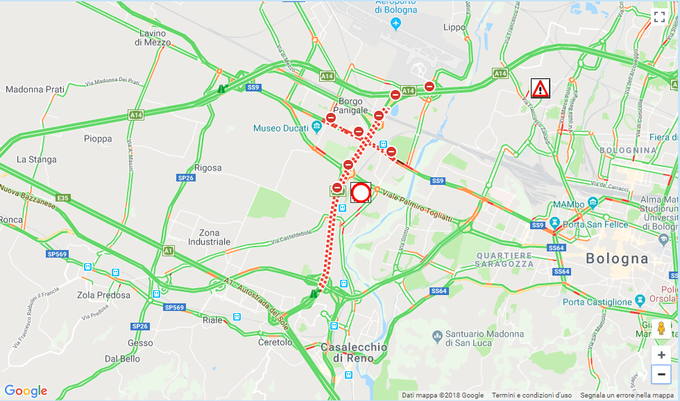 Incidente sull'A14/A1: tratti stradali e autostradali chiusi