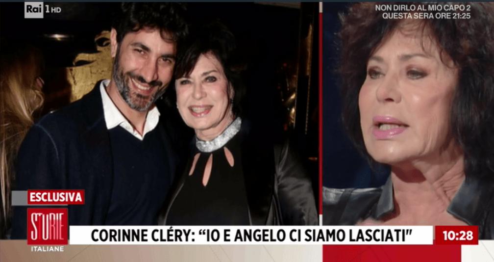 Storie Italiane, Corinne Clery: 'Io e Angelo Costabile ci siamo lasciati, è un gesto d'amore'