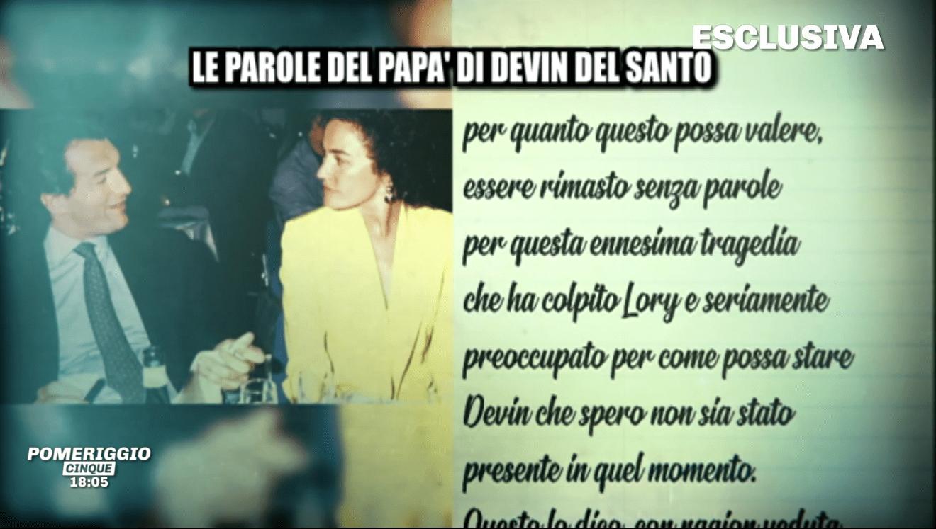 Lory Del Santo, il padre di Devin: 'Sono preoccupato per mio figlio'