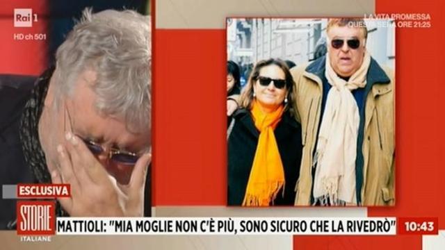 Maurizio Mattioli piange a Storie Italiane