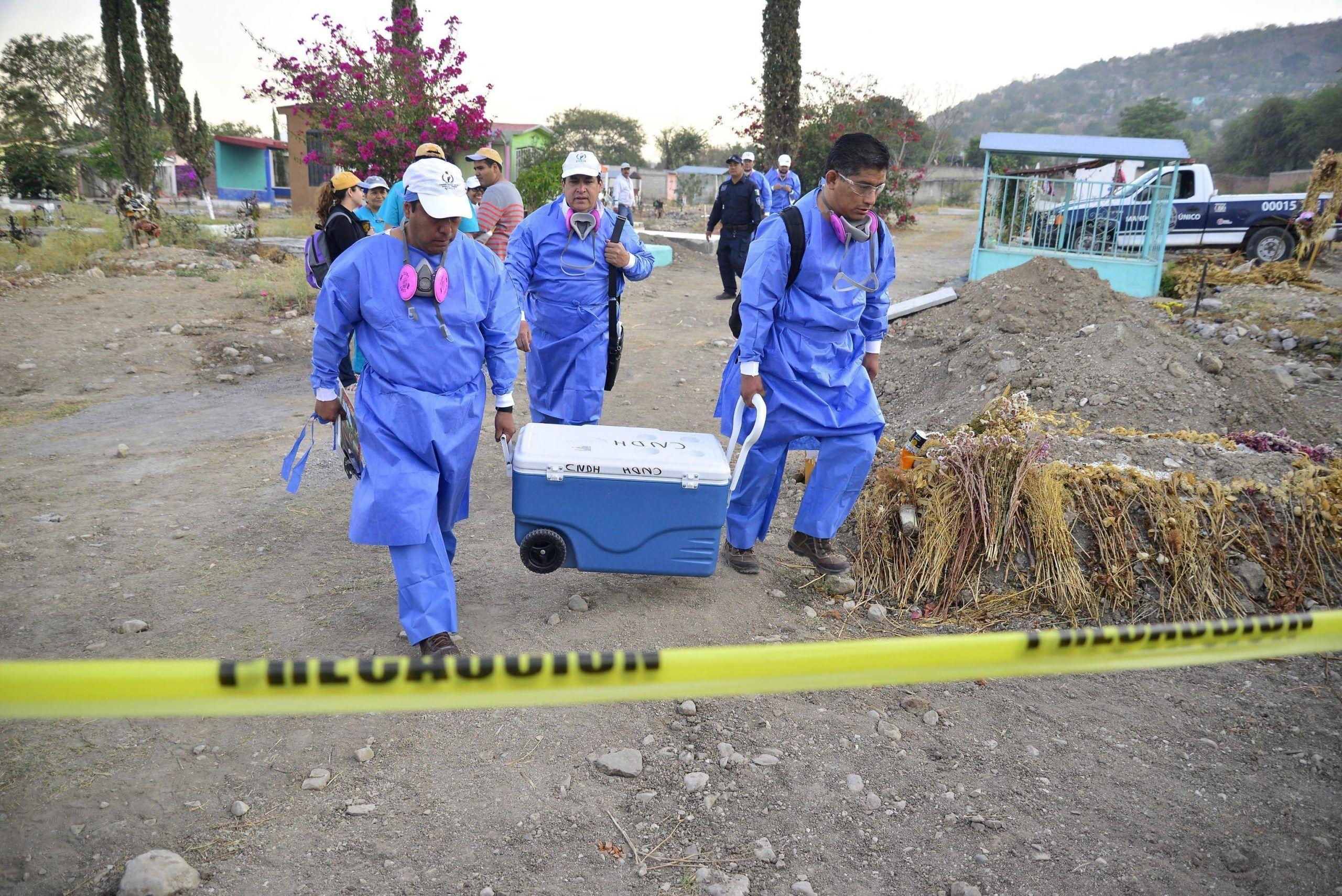 Fossa comune in Messico