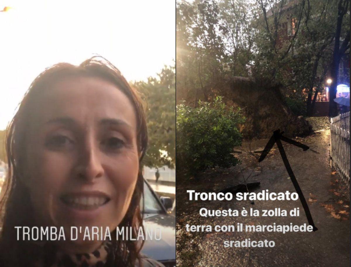 Benedetta Parodi vittima del maltempo: 'Una giornata terribile'