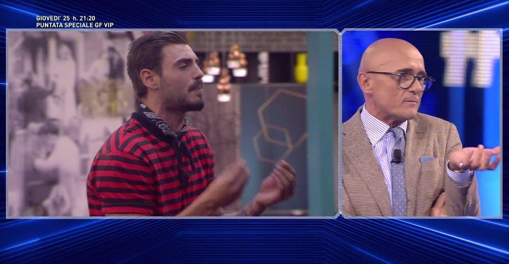 GF VIP 3, Francesco Monte accusa: 'Distorcete la realtà!'. Signorini: 'Modera i toni'