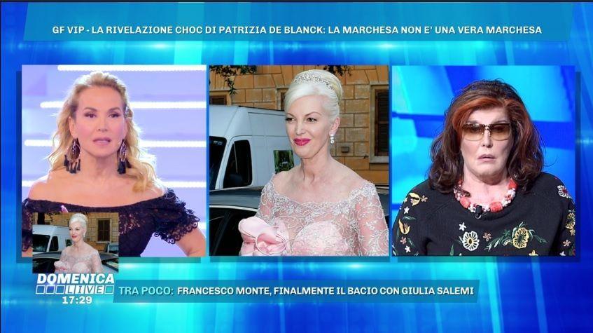 Domenica Live, Patrizia De Blanck: 'Daniela Del Secco non è marchesa'