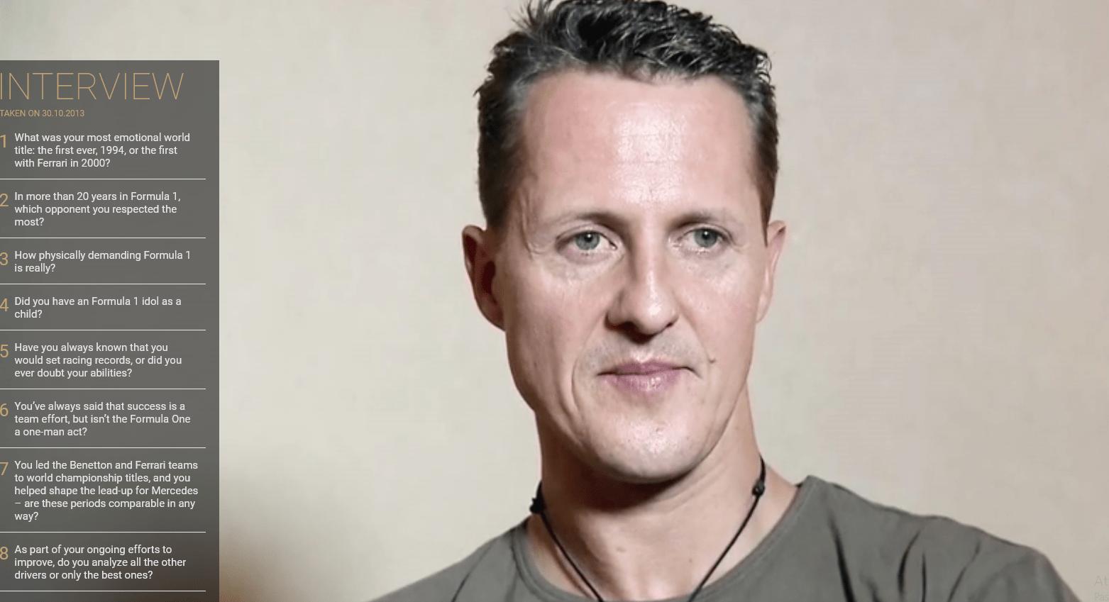 Schumacher e l'intervista inedita: 'La Ferrari, il ricordo più bello'
