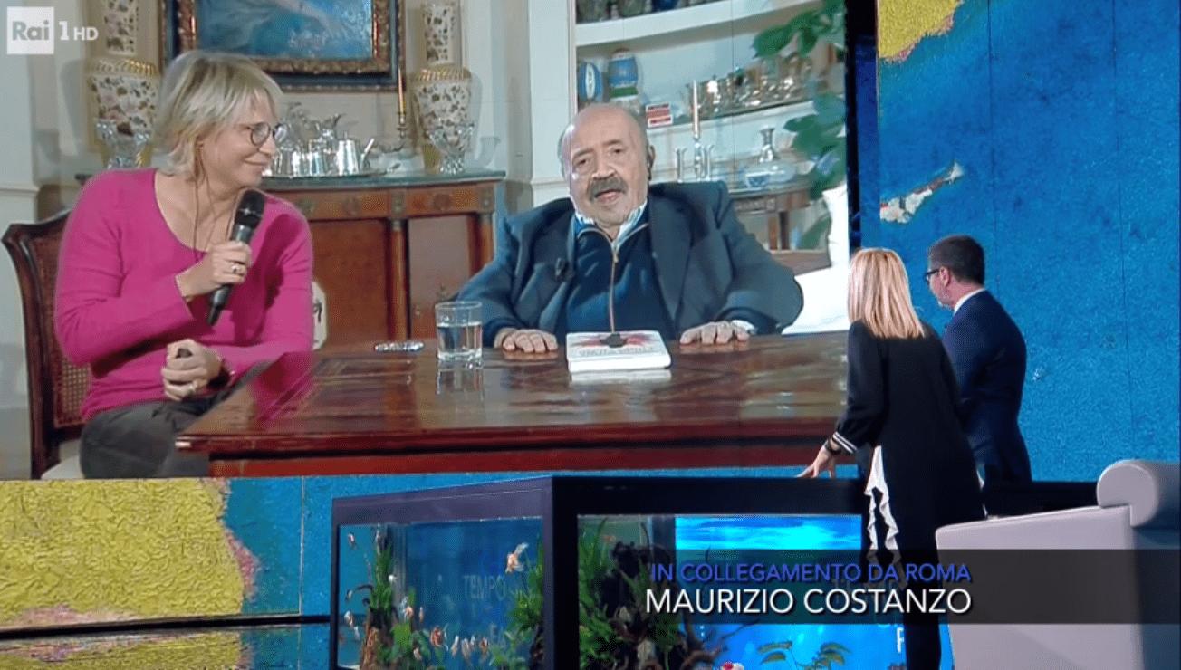 Che Tempo Che Fa, Maria De Filippi irrompe durante l'intervista a Maurizio Costanzo