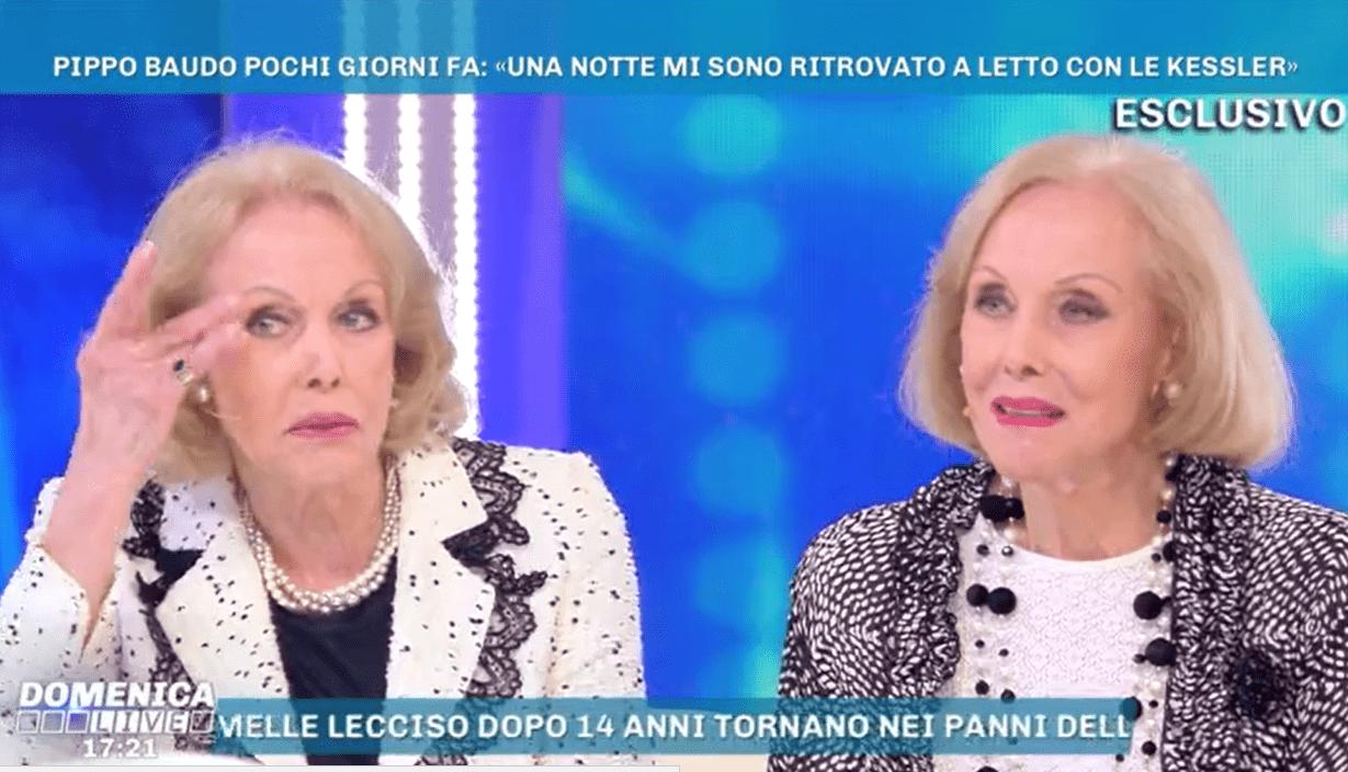 Le gemelle Kessler: 'Noi due a letto con Pippo Baudo? Non è vero, non ci sta più con la testa'