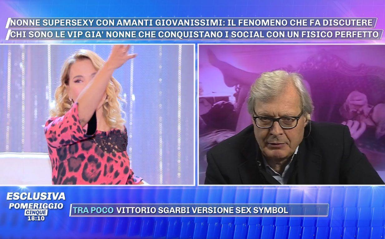 Vittorio Sgarbi Barbara D'Urso