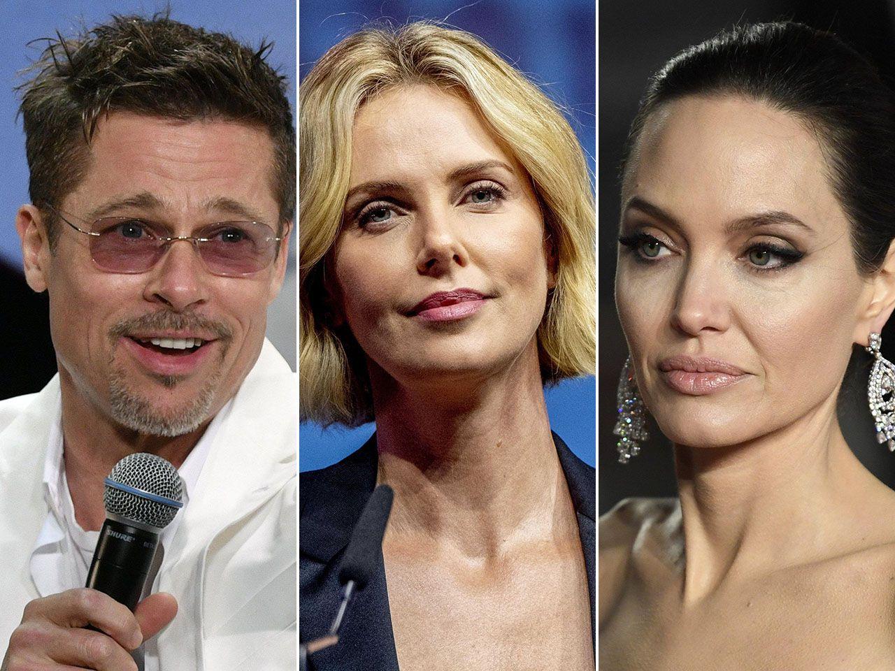 Brad Pitt Charlize Theron Angelina Jolie