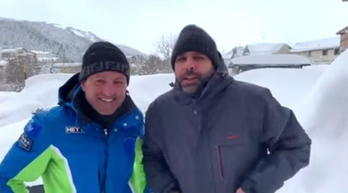 Checco Zalone bloccato sulla neve a Roccaraso: 'Non verrò mai più, andate a fan****'