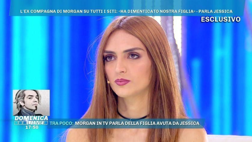 Domenica Live, Jessica Mazzoli: 'Morgan ha visto sua figlia solo due volte in sei anni'