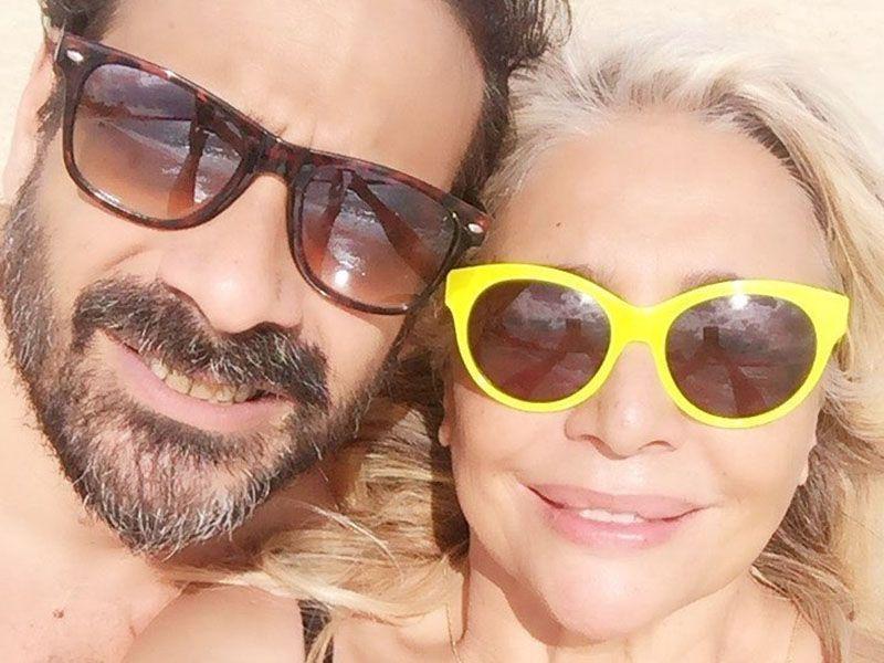 Mara Venier con il figlio Paolo