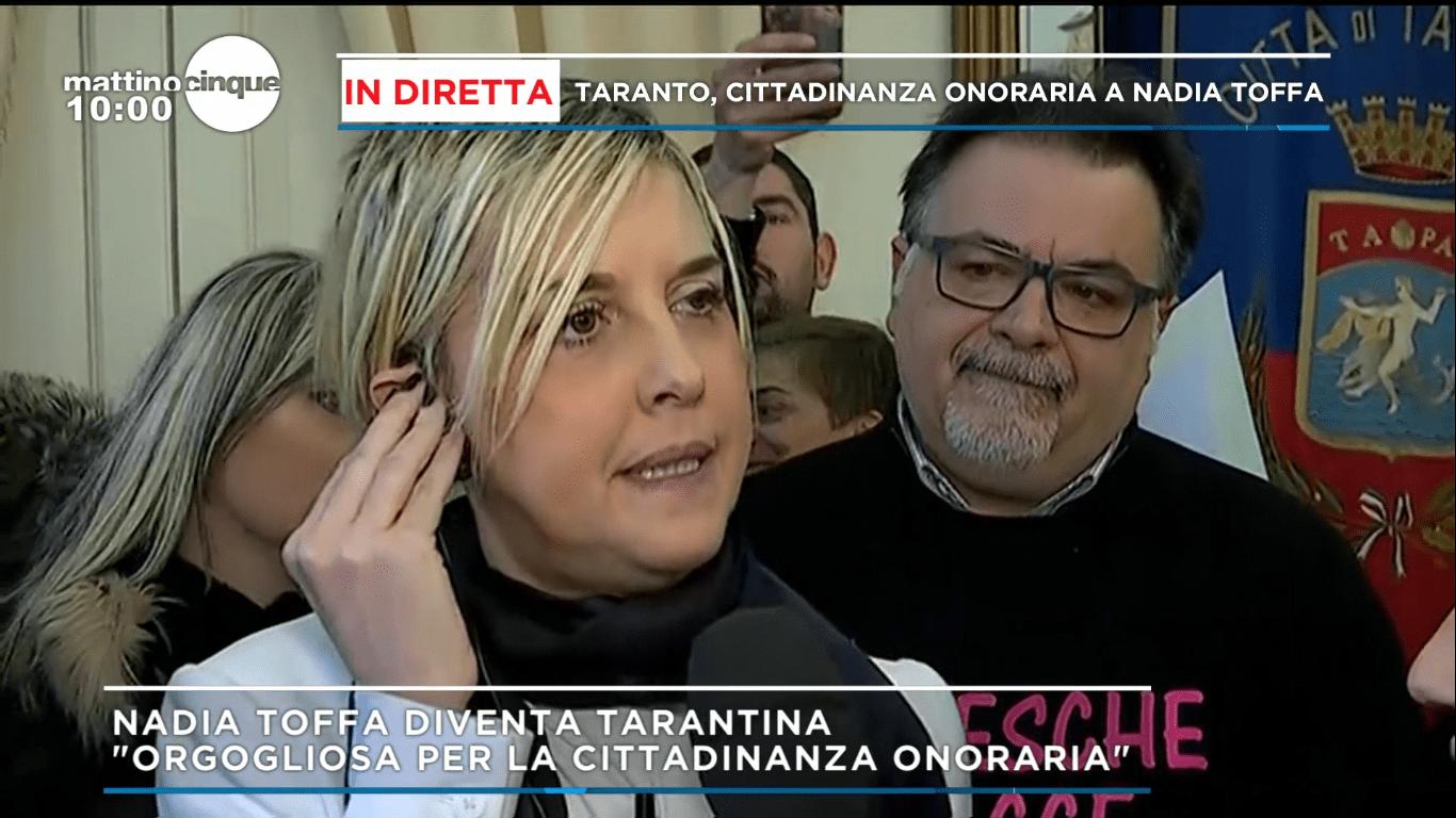 Nadia Toffa ottiene la cittadinanza onoraria di Taranto: commozione a Mattino Cinque