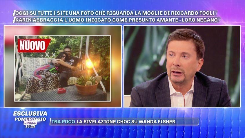 Pomeriggio 5, Karin Trentini con Giampaolo Celli: dubbi sul tradimento a Riccardo Fogli