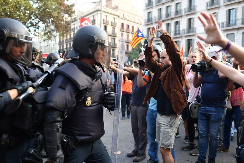 Scontri Catalogna
