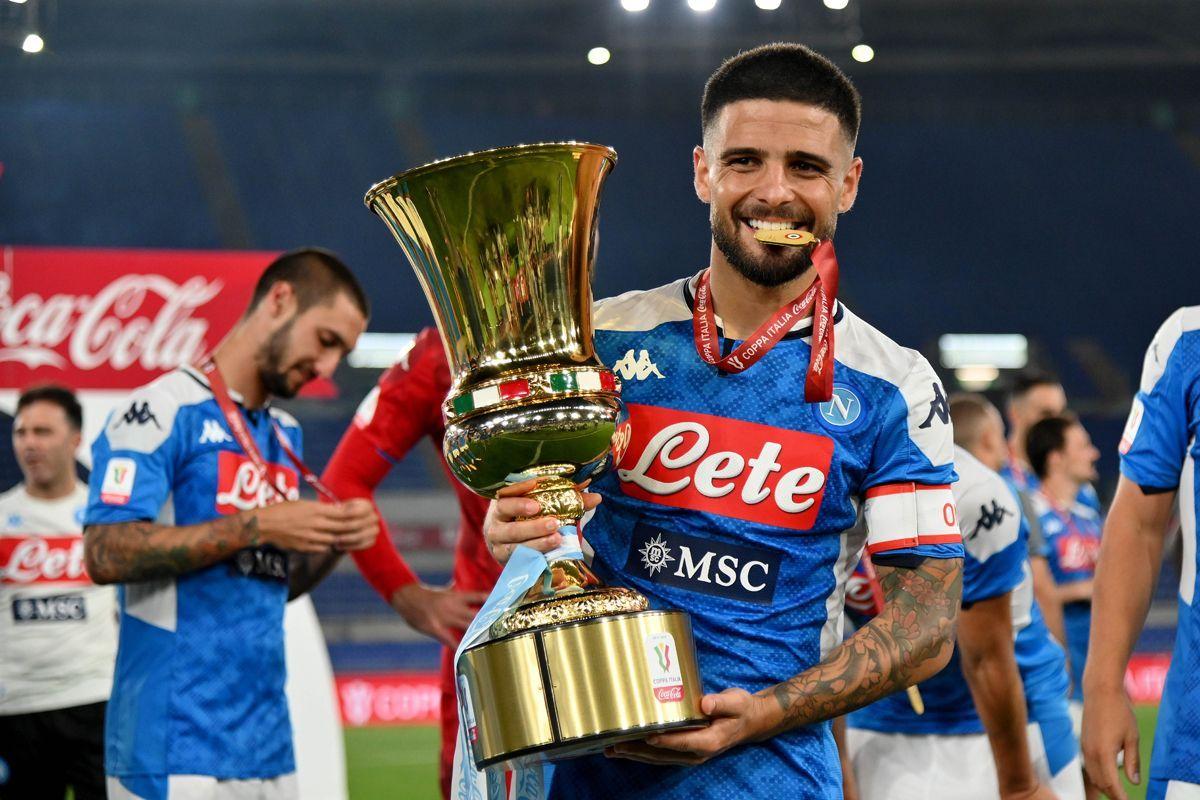 Insigne con la Coppa Italia
