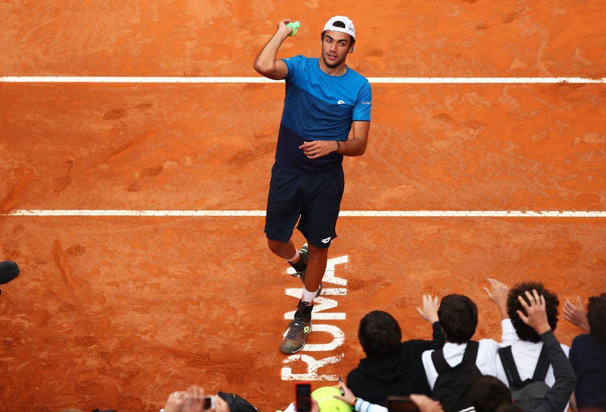 Matteo Berrettini agli Internazionali di tennis a Roma