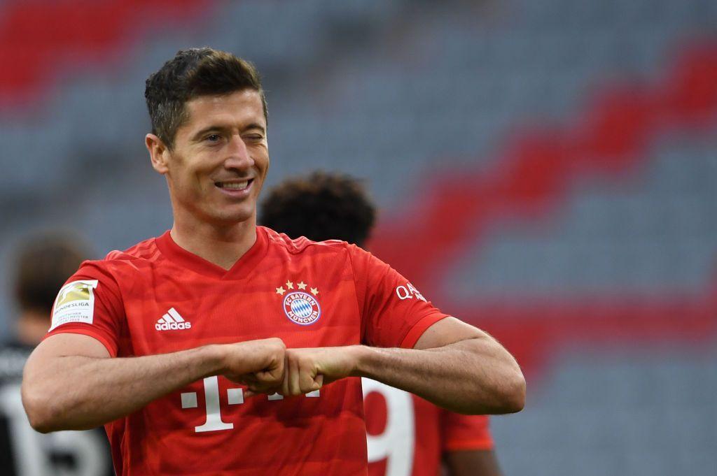 Lewandowski festeggia il gol