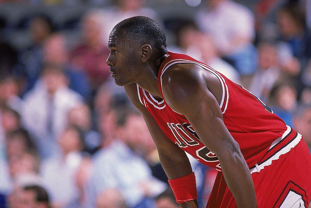 Michael Jordan durante una partita di basket