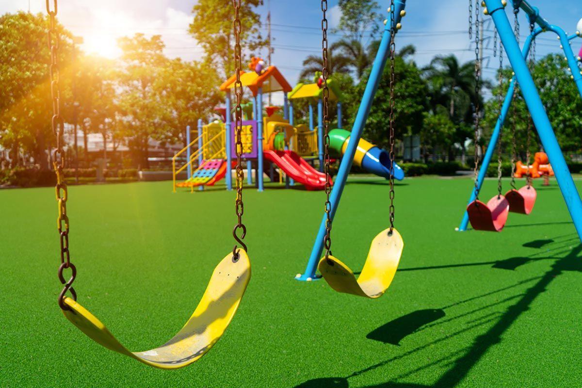 Parco giochi vuoto