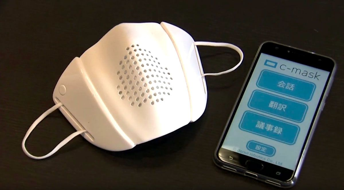 Smart mask, mascherina che traduce