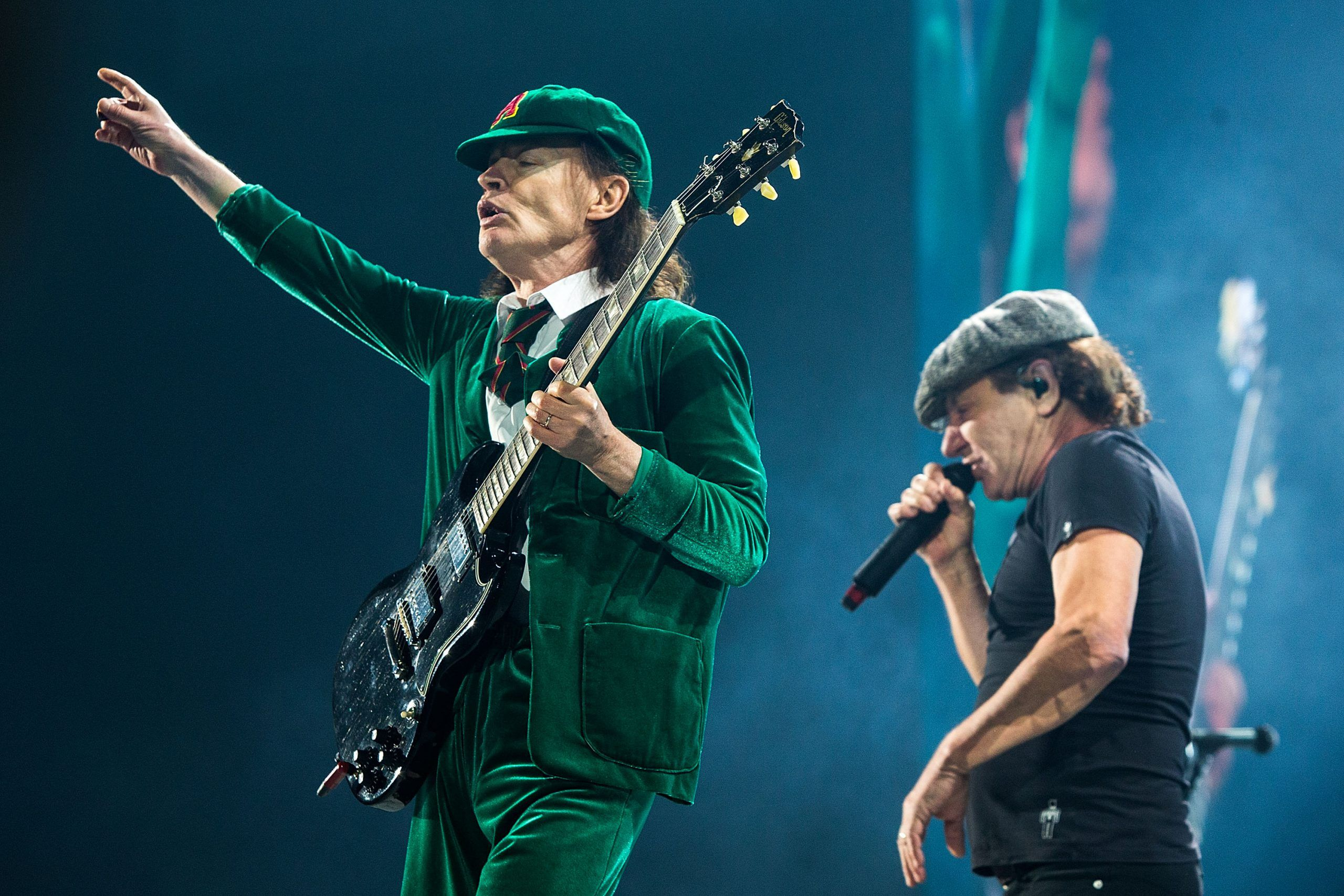 Angus Young e Brian Johnson