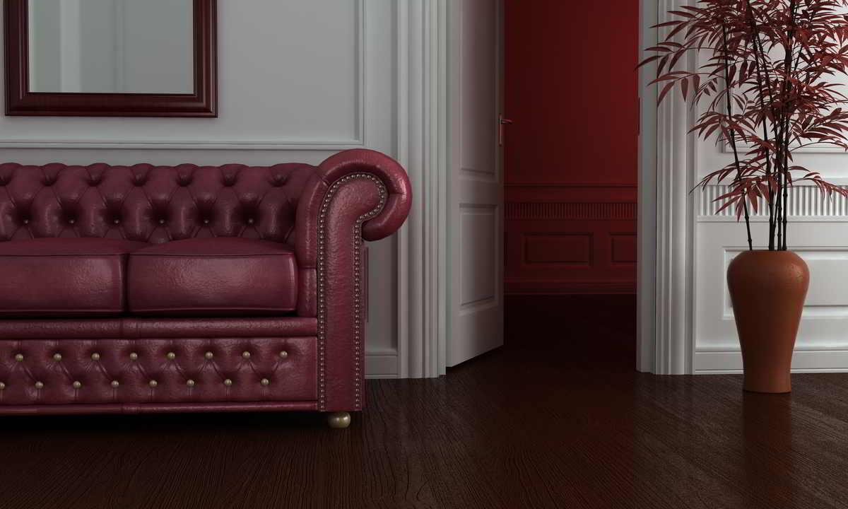 salotto con divano chesterfield