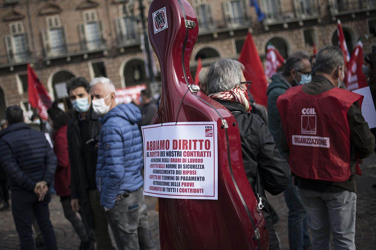 Manifestazioni dei lavoratori dello spettacolo contro il Dpcm: