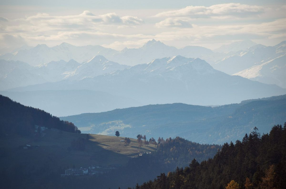 Una veduta delle montagne dell'Alto Adige