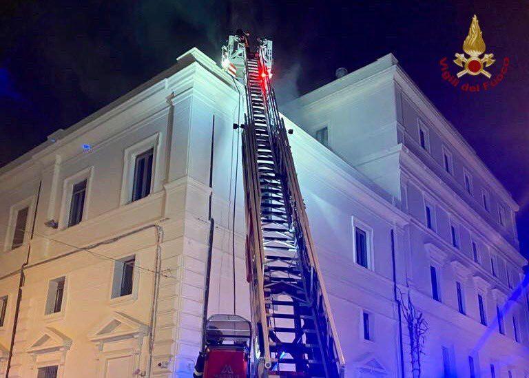 incendio tribunale Reggio Calabria