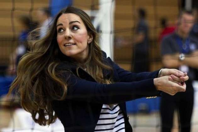 Kate Middleton durante una partita