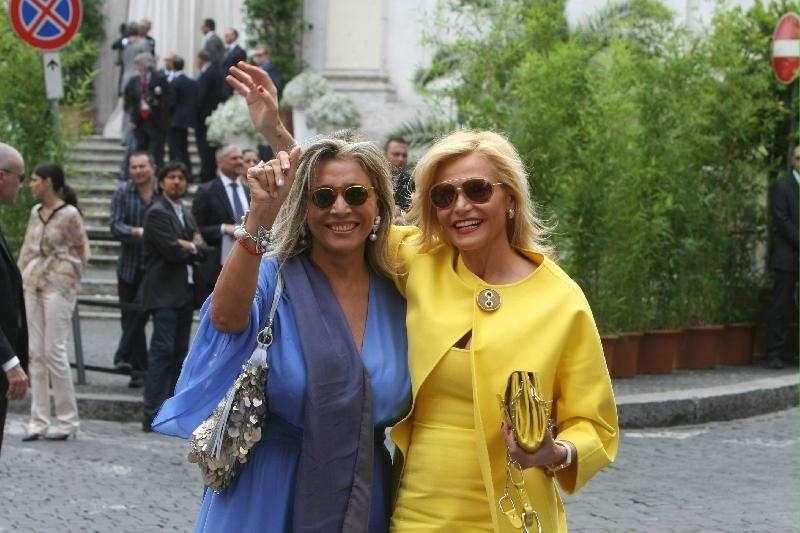 Mara Venier con Simona Ventura