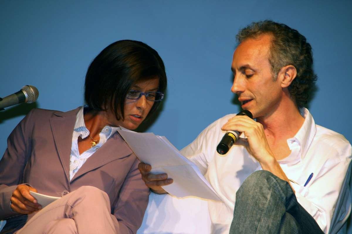Con Caterina Guzzanti
