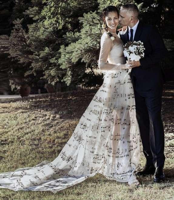 Eros Ramazzotti e Marica Pellegrinelli, foto di nozze