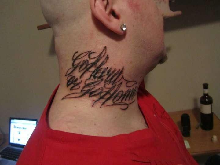 Tatuaggio Go Hard or Go Home di Jake La Furia