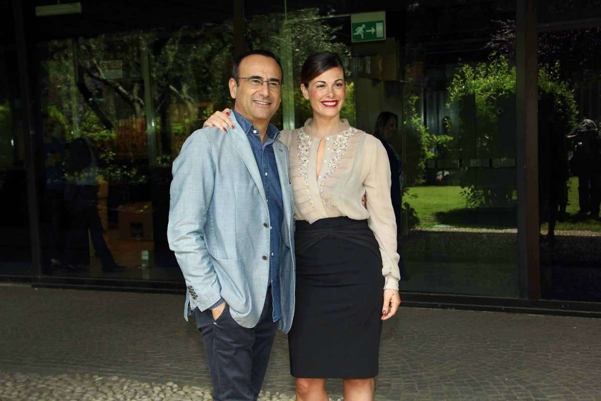 Vanessa Incontrada con Carlo Conti in Rai