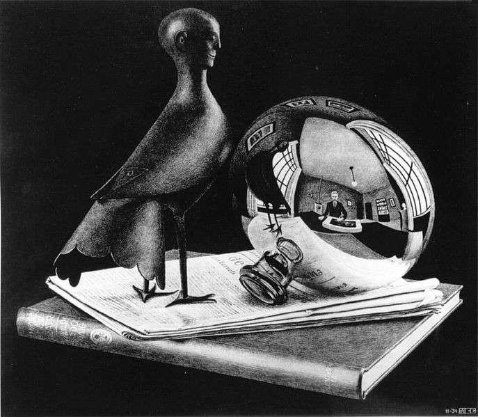 Vita con specchio sferico, 1934