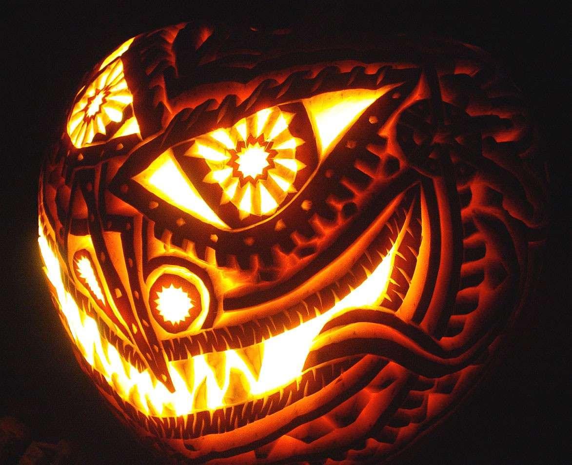 Arte con la zucca per Halloween