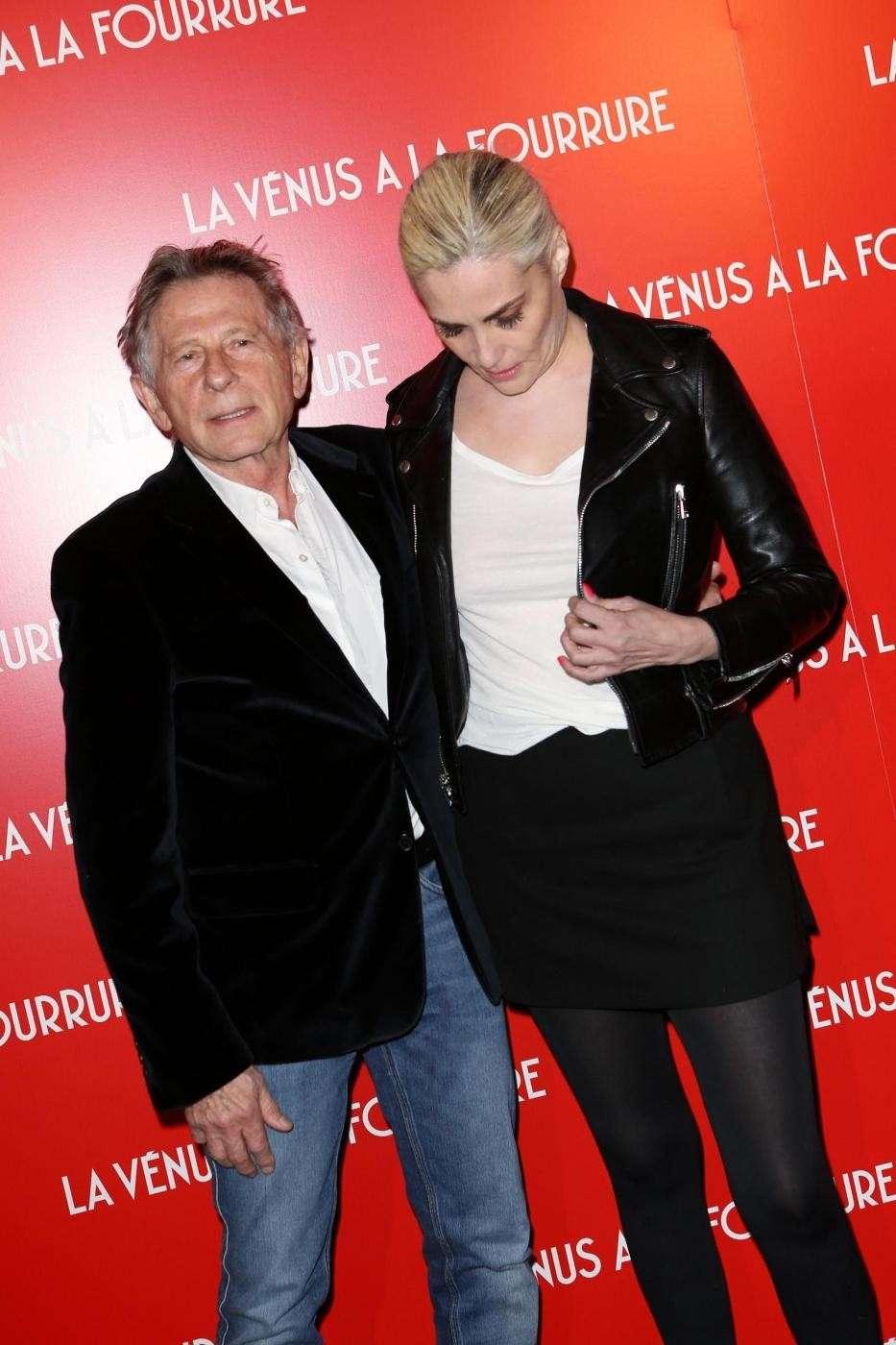 Roman Polanski con Emmanuelle Seigner
